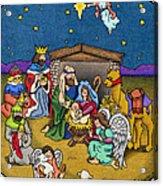 A Nativity Scene Acrylic Print by Sarah Batalka
