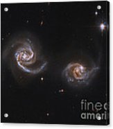 A Pair Of Interacting Spiral Galaxies Acrylic Print by Roberto Colombari