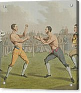 A Prize Fight Aquatinted By I Clark Acrylic Print by Henry Thomas Alken