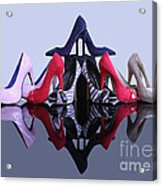 A Pyramid Of Shoes Acrylic Print by Terri Waters