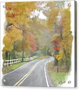 A Quiet Country Road Acrylic Print by Bill Losey