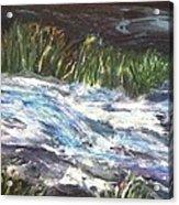 A River Runs Through Acrylic Print by Sherry Harradence