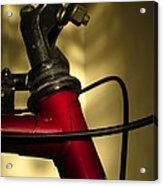 A Study In Scarlet Bicycle Acrylic Print by Guy Ricketts