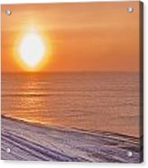 A Sundog Hangs In The Air Over The Acrylic Print by Kevin Smith