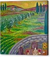 A Tuscan Balcony Acrylic Print by Victoria Lakes