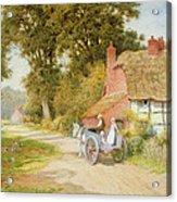 A Warwickshire Lane Acrylic Print by Arthur Claude Strachan
