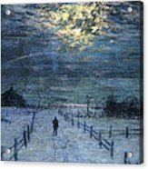 A Wintry Walk Acrylic Print by Lowell Birge Harrison