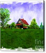 Abandond Farm House Digital Paint Acrylic Print by Debbie Portwood