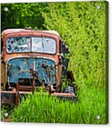 Abandoned Truck In Rural Michigan Acrylic Print by Adam Romanowicz