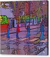 Abbey Road Crossing Acrylic Print by Chris Thaxter