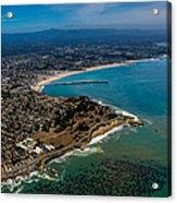 Above Santa Cruz California Looking East Acrylic Print by Randy Straka