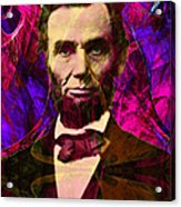 Abraham Lincoln 2014020502m68 Acrylic Print by Wingsdomain Art and Photography