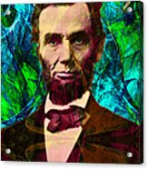 Abraham Lincoln 2014020502p145 Acrylic Print by Wingsdomain Art and Photography
