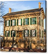 Abraham Lincoln Home In Springfield Illinois Acrylic Print by Paul Velgos