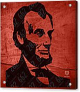 Abraham Lincoln License Plate Art Acrylic Print by Design Turnpike