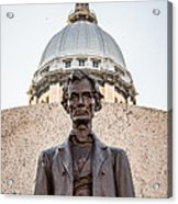 Abraham Lincoln Statue At Illinois State Capitol Acrylic Print by Paul Velgos
