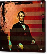 Abraham Lincoln Acrylic Print by Wingsdomain Art and Photography
