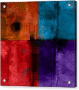 abstract - art- Color Block Square Acrylic Print by Ann Powell