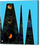abstract - art- Mystical Moons  Acrylic Print by Ann Powell
