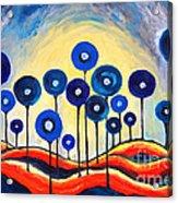 Abstract Blue Symphony  Acrylic Print by Ramona Matei