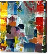 Abstract Color Relationships Lv Acrylic Print by Michelle Calkins