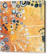 Abstract Decorative Art Original Circles Trendy Painting By Madart Studios Acrylic Print by Megan Duncanson
