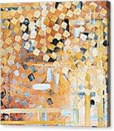 Abstract Decorative Art Original Diamond Checkers Trendy Painting By Madart Studios Acrylic Print by Megan Duncanson