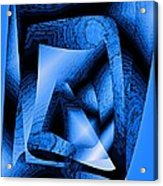 Abstract Design In Blue Contrast Acrylic Print by Mario Perez