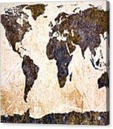 Abstract Earth Map Acrylic Print by Bob Orsillo