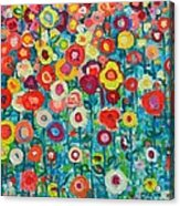 Abstract Garden Of Happiness Acrylic Print by Ana Maria Edulescu