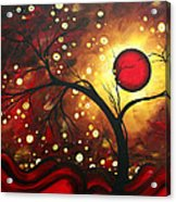 Abstract Landscape Glowing Orb By Madart Acrylic Print by Megan Duncanson