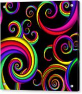 Abstract - Spirals - Inside A Clown Acrylic Print by Mike Savad