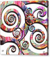 Abstract - Spirals - Wonderland Acrylic Print by Mike Savad
