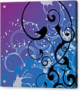 Abstract Swirl Acrylic Print by Mellisa Ward