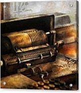 Accountant - The Adding Machine Acrylic Print by Mike Savad
