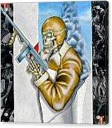 Ace Of Spades Acrylic Print by John Kuhenbeaker