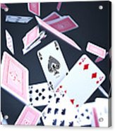 Ace Of Spades Acrylic Print by Samuel Whitton