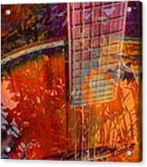 Acoustic Dreams Digital Guitar Art By Steven Langston Acrylic Print by Steven Lebron Langston