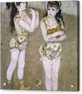Acrobats At The Cirque Fernand Acrylic Print by Pierre Auguste Renoir