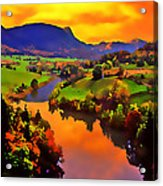 Across The Valley Acrylic Print by Stephen Anderson