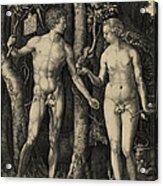 Adam And Eve In The Garden Of Eden - Albrecht Durer 1504 Acrylic Print by Daniel Hagerman