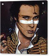 Adam Ant Acrylic Print by Jane Whiting Chrzanoska