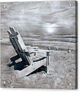 Adirondack Sunrise Topsail Island Acrylic Print by Betsy Knapp