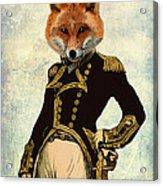 Admiral Fox Full Acrylic Print by Kelly McLaughlan