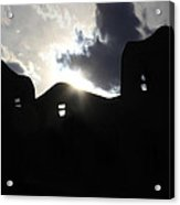 Adobe In The Sun Acrylic Print by Mike McGlothlen