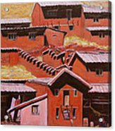 Adobe Village - Peru Impression II Acrylic Print by Xueling Zou