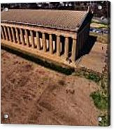 Aerial Photography Of The Parthenon Acrylic Print by Dan Sproul