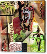 Afro Aesthetic A  Acrylic Print by Everett Spruill