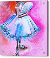 After Master Degas Ballerina With Fan Acrylic Print by Susi Franco