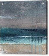 After The Storm- Abstract Beach Landscape Acrylic Print by Linda Woods